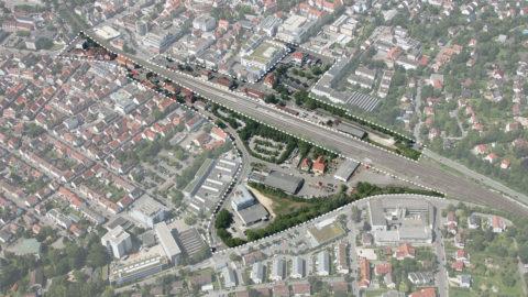 Bahnstadt Nürtingen Aerial View Hosoya Schaefer Architects