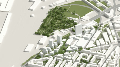 Hosoya Schaefer Architects Nordspitze Basel Migros Genossenschaft Birds Eye View
